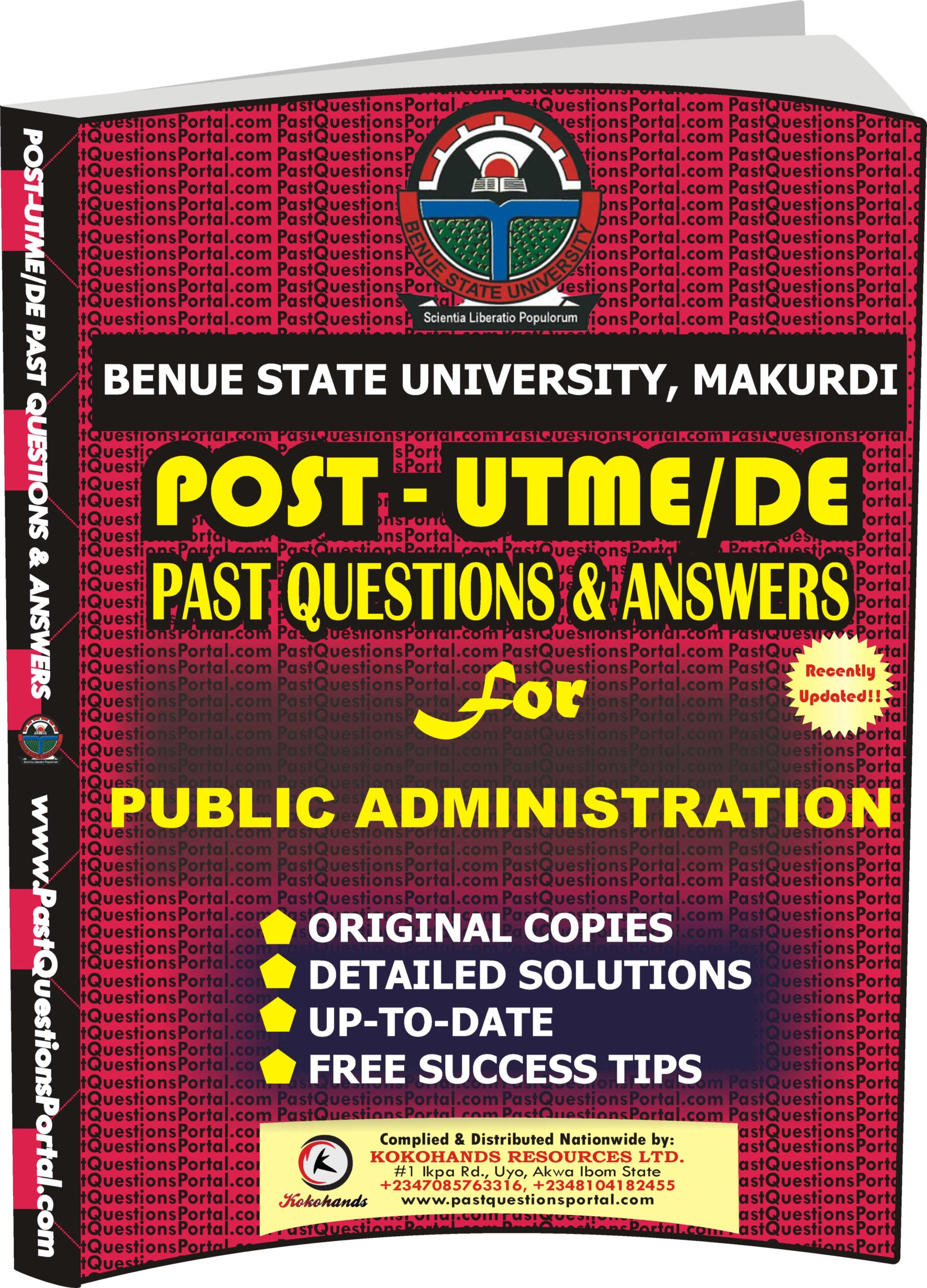 BSUM Post UTME Past Questions for PUBLIC ADMINISTRATION