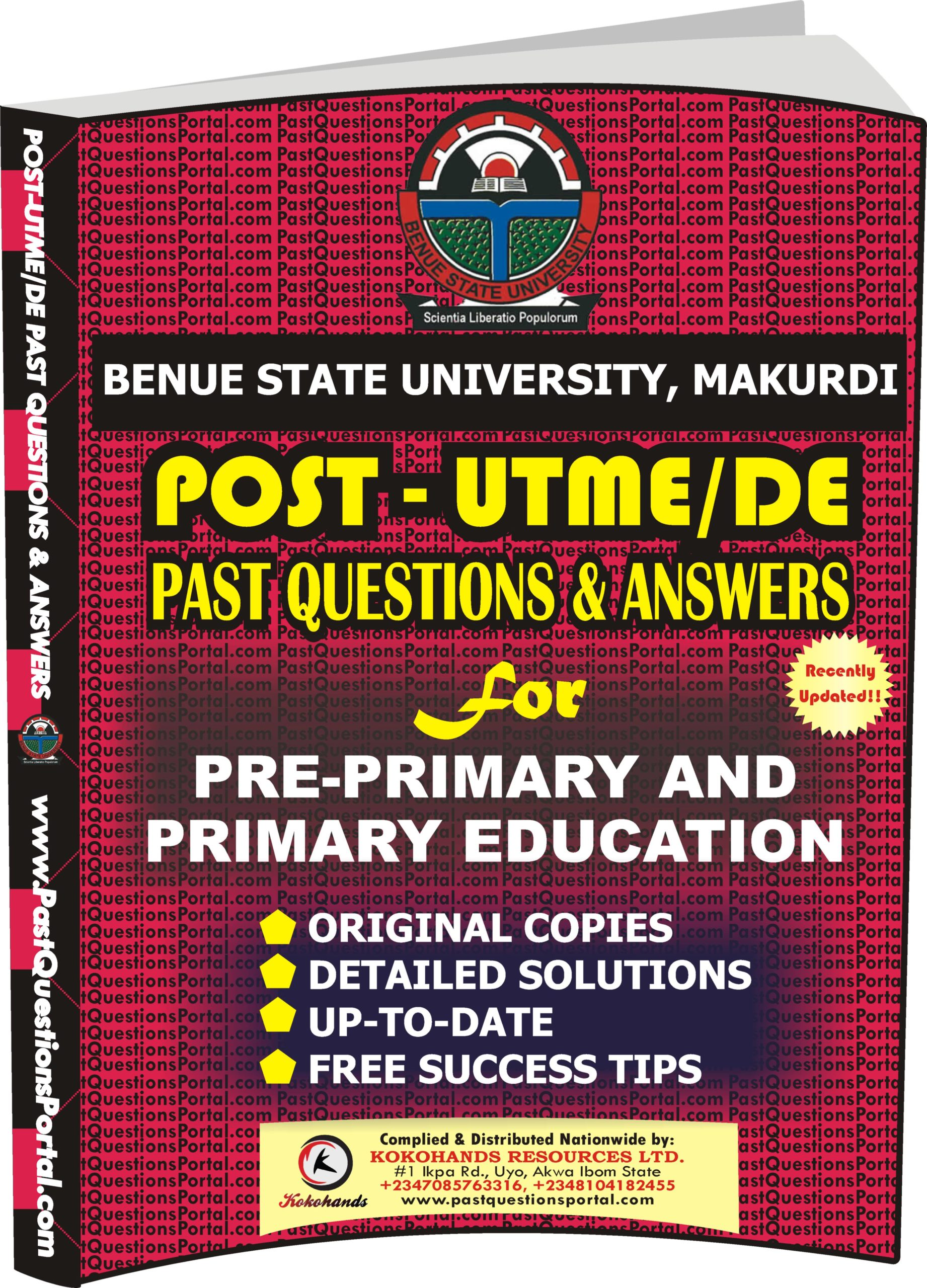 BSUM Post UTME Past Questions for Pre-Primary and Primary Education