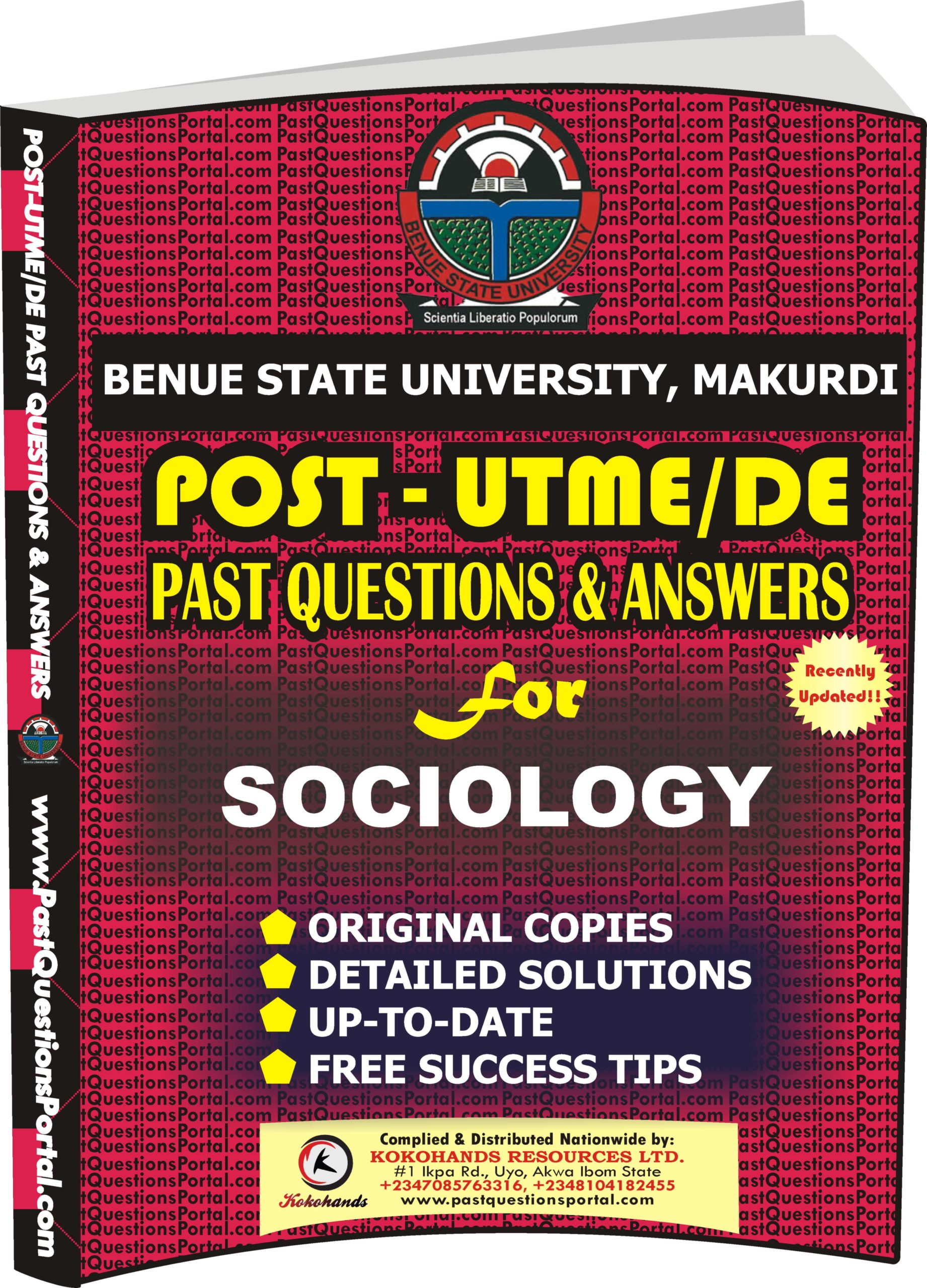 BSUM Post UTME Past Questions for SOCIOLOGY