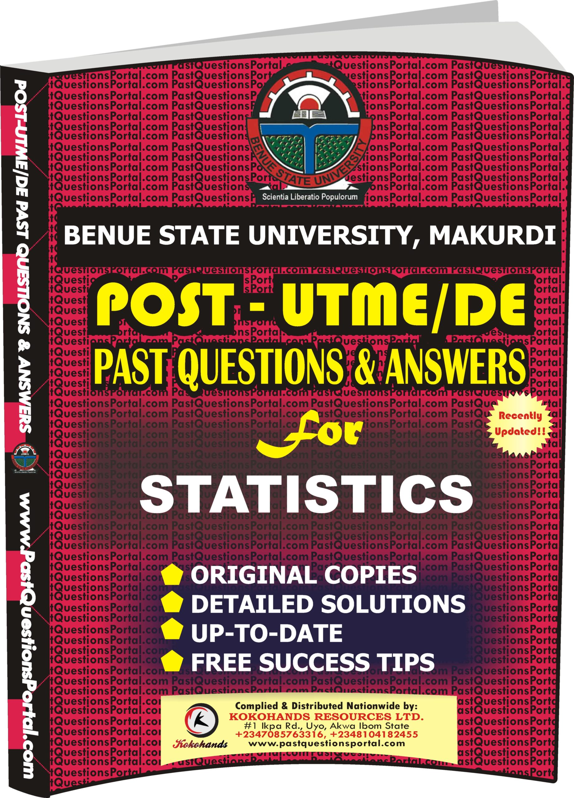 BSUM Post UTME Past Questions for STATISTICS