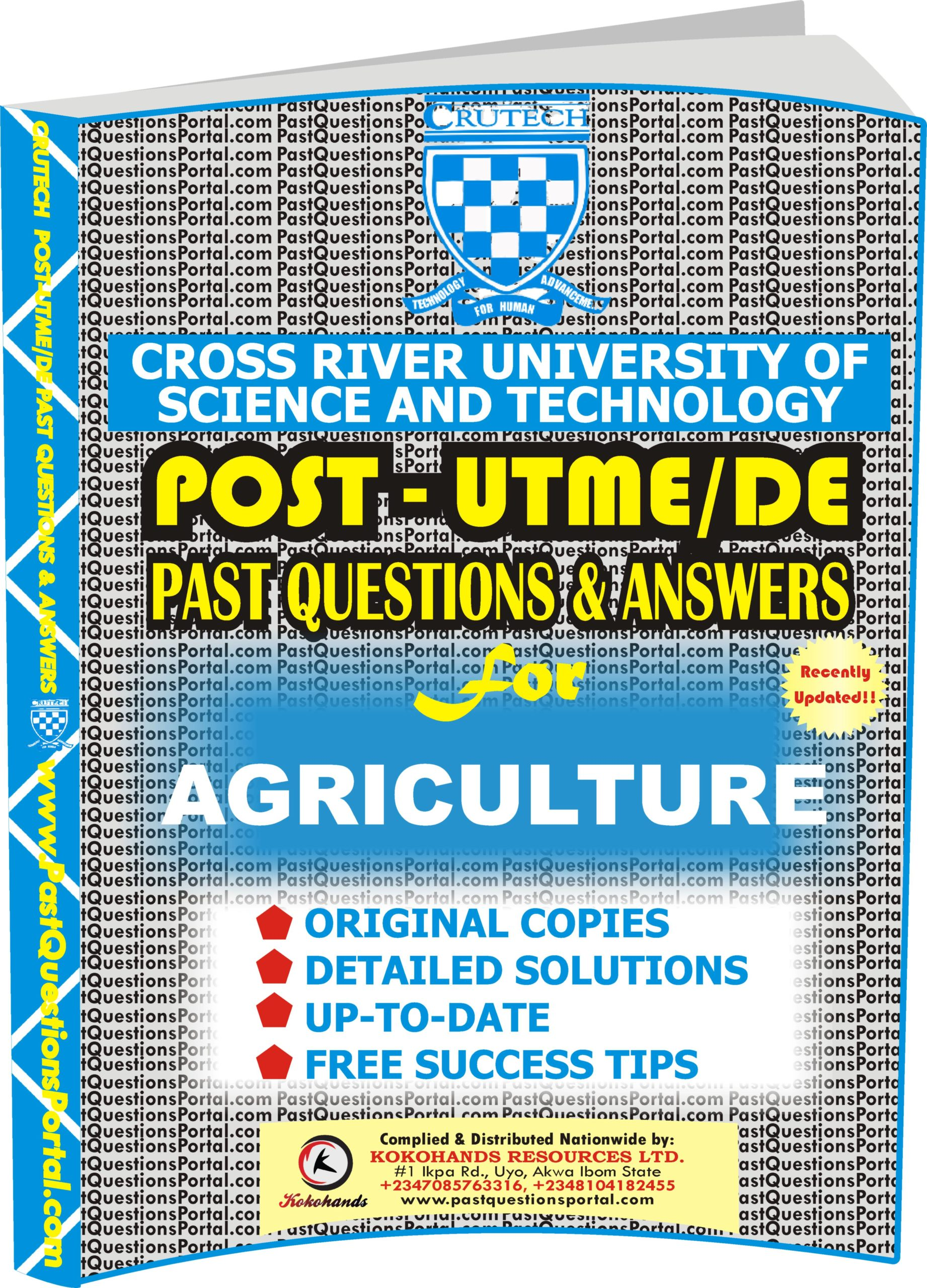 CRUTECH Post UTME Past Questions for AGRICULTURE