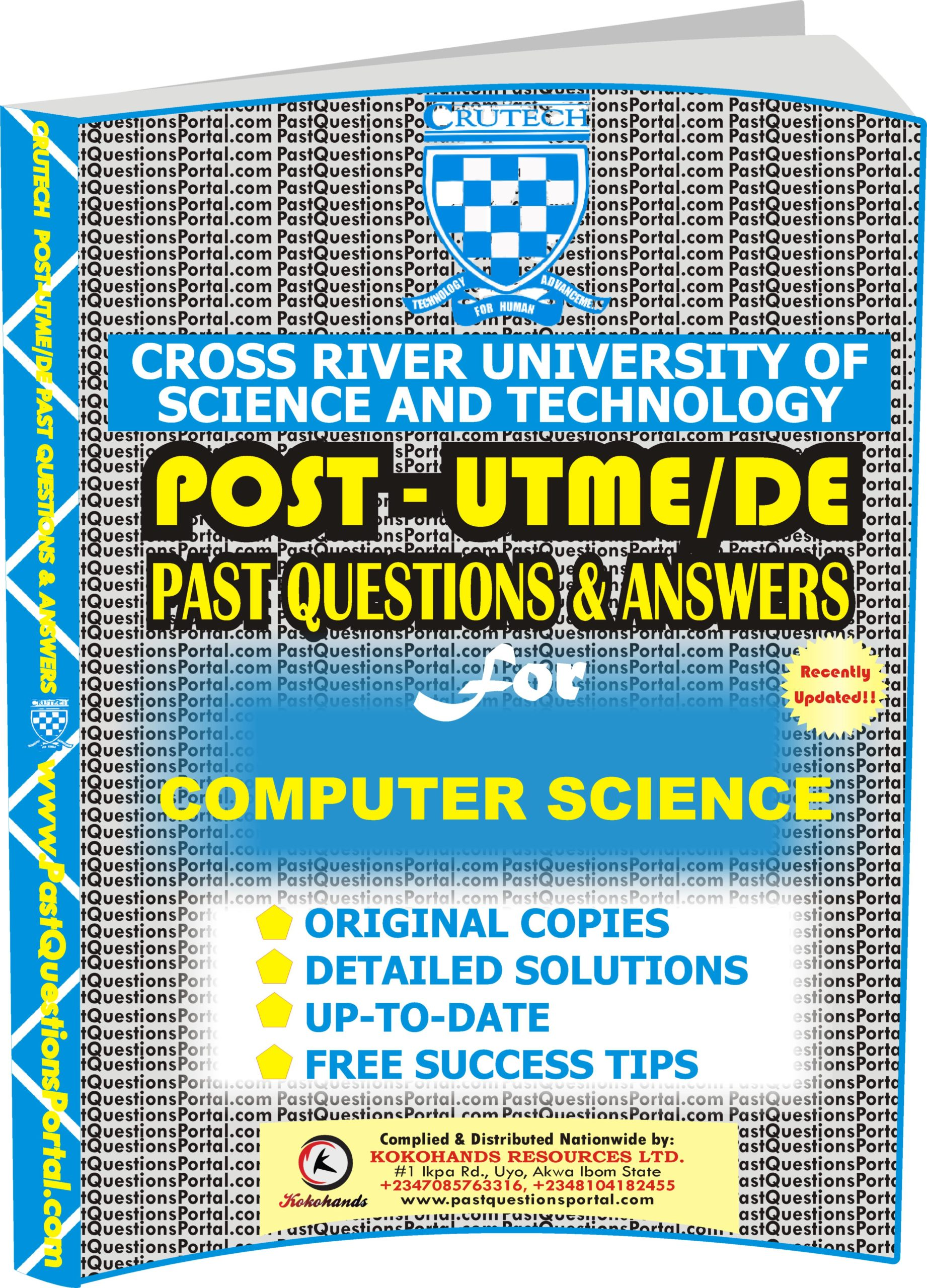 CRUTECH Post UTME Past Questions for COMPUTER SCIENCE