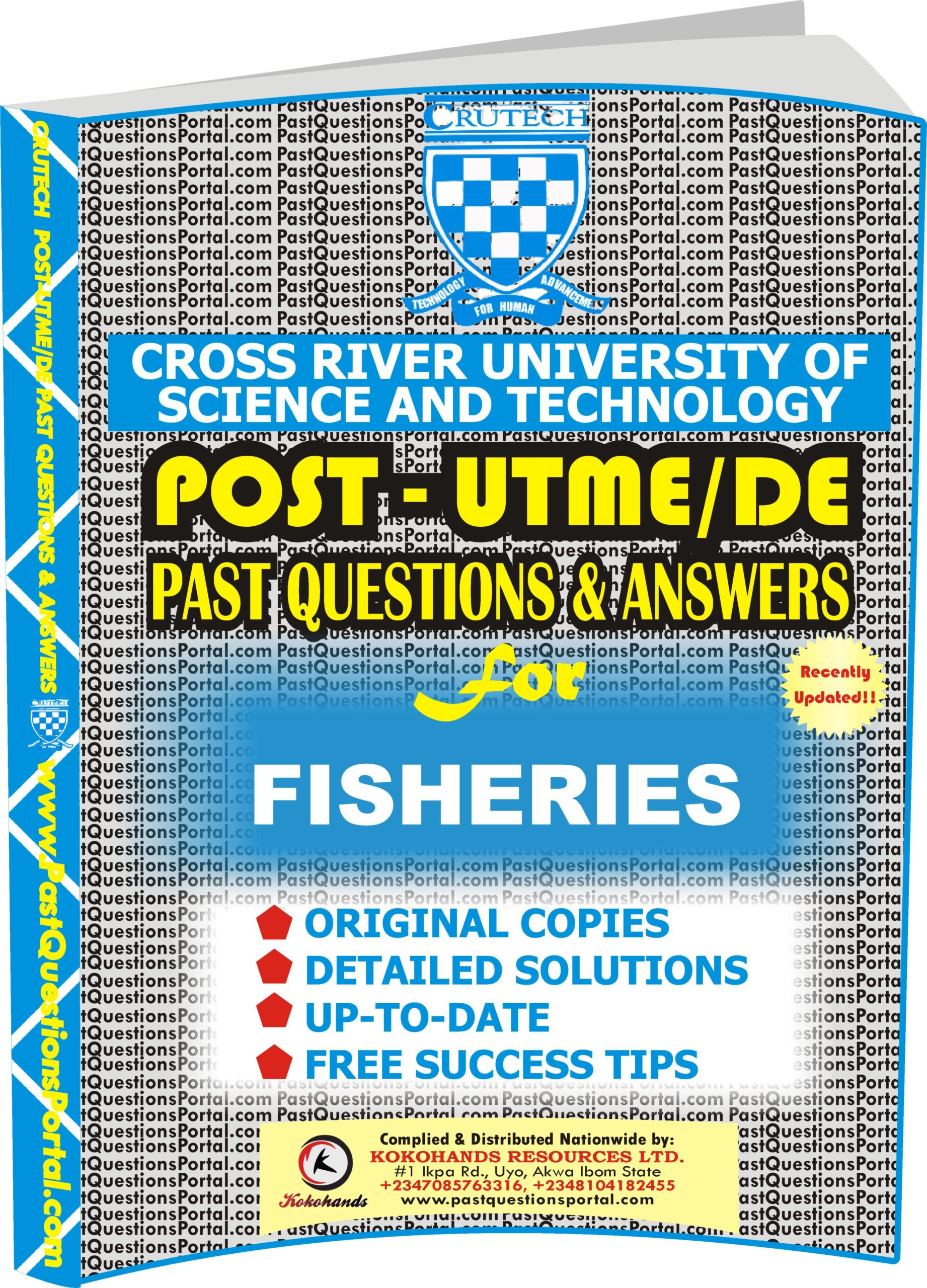 CRUTECH Post UTME Past Questions for FISHERIES