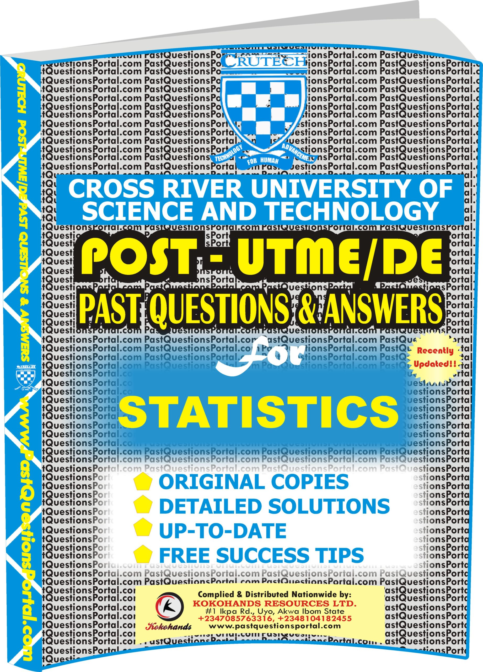 CRUTECH Post UTME Past Questions for STATISTICS