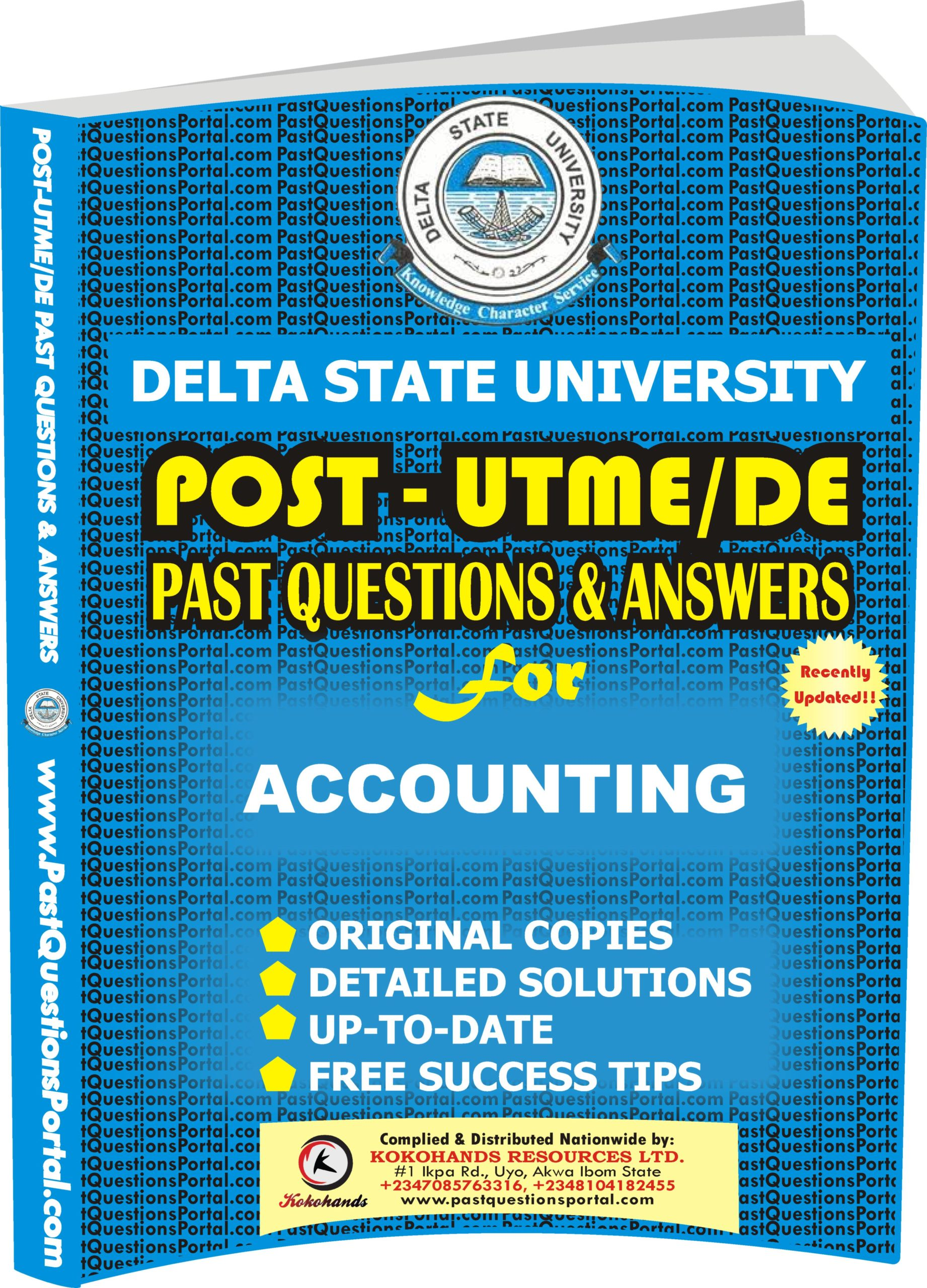 DELSU Post UTME Past Questions for ACCOUNTING