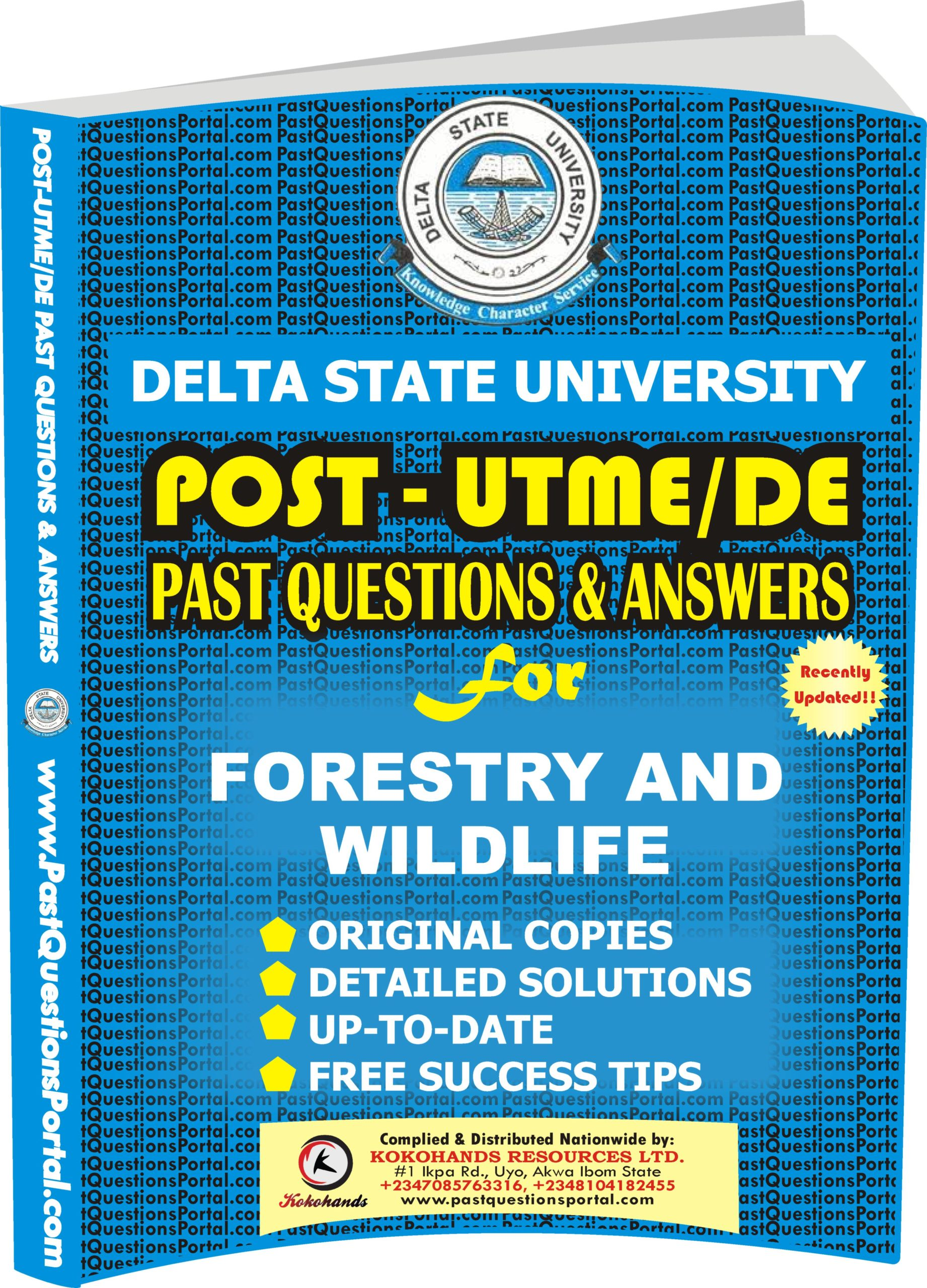 DELSU Post UTME Past Questions for FORESTRY AND WILDLIFE