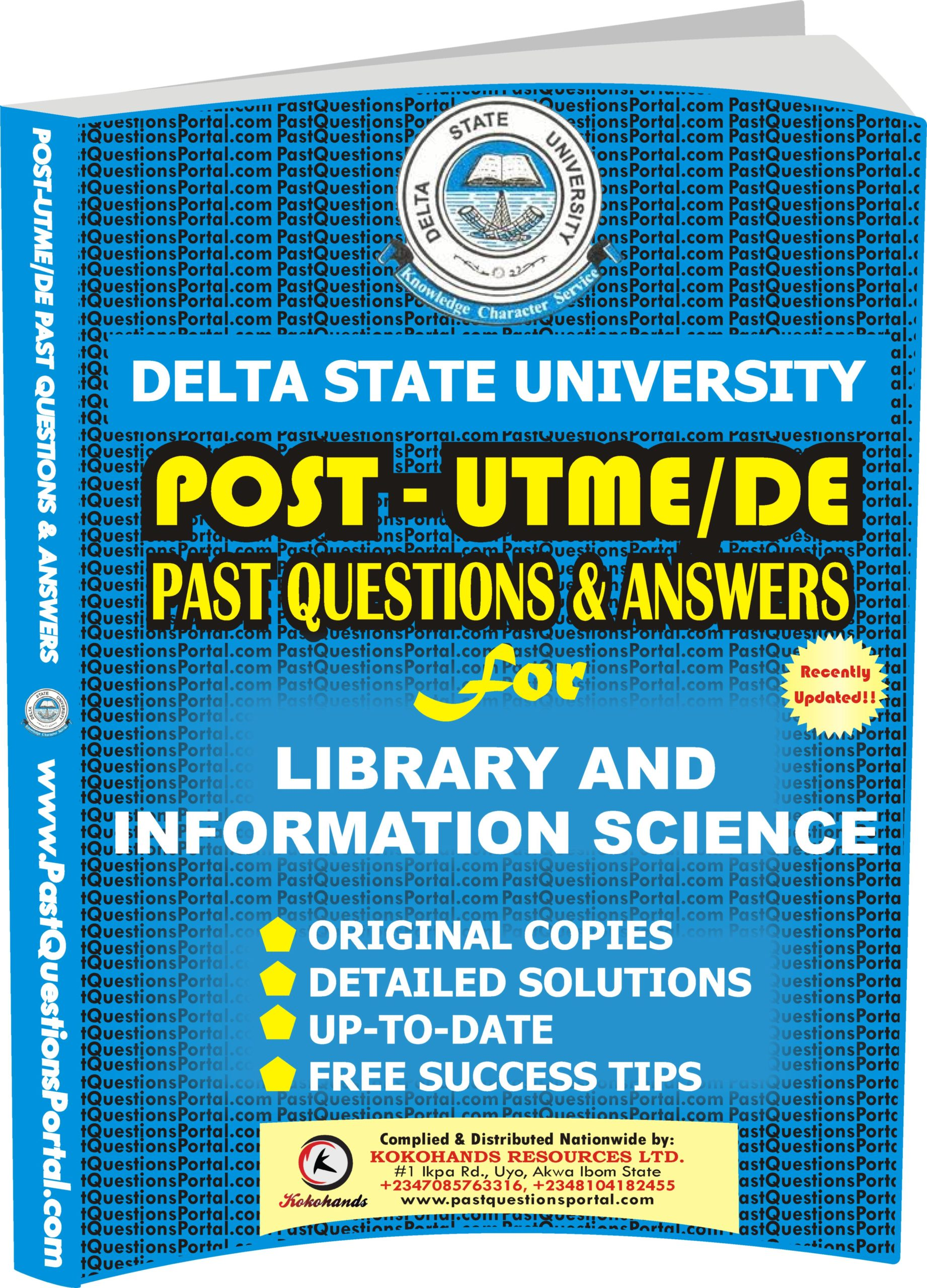 DELSU Post UTME Past Questions for Library and Information Science