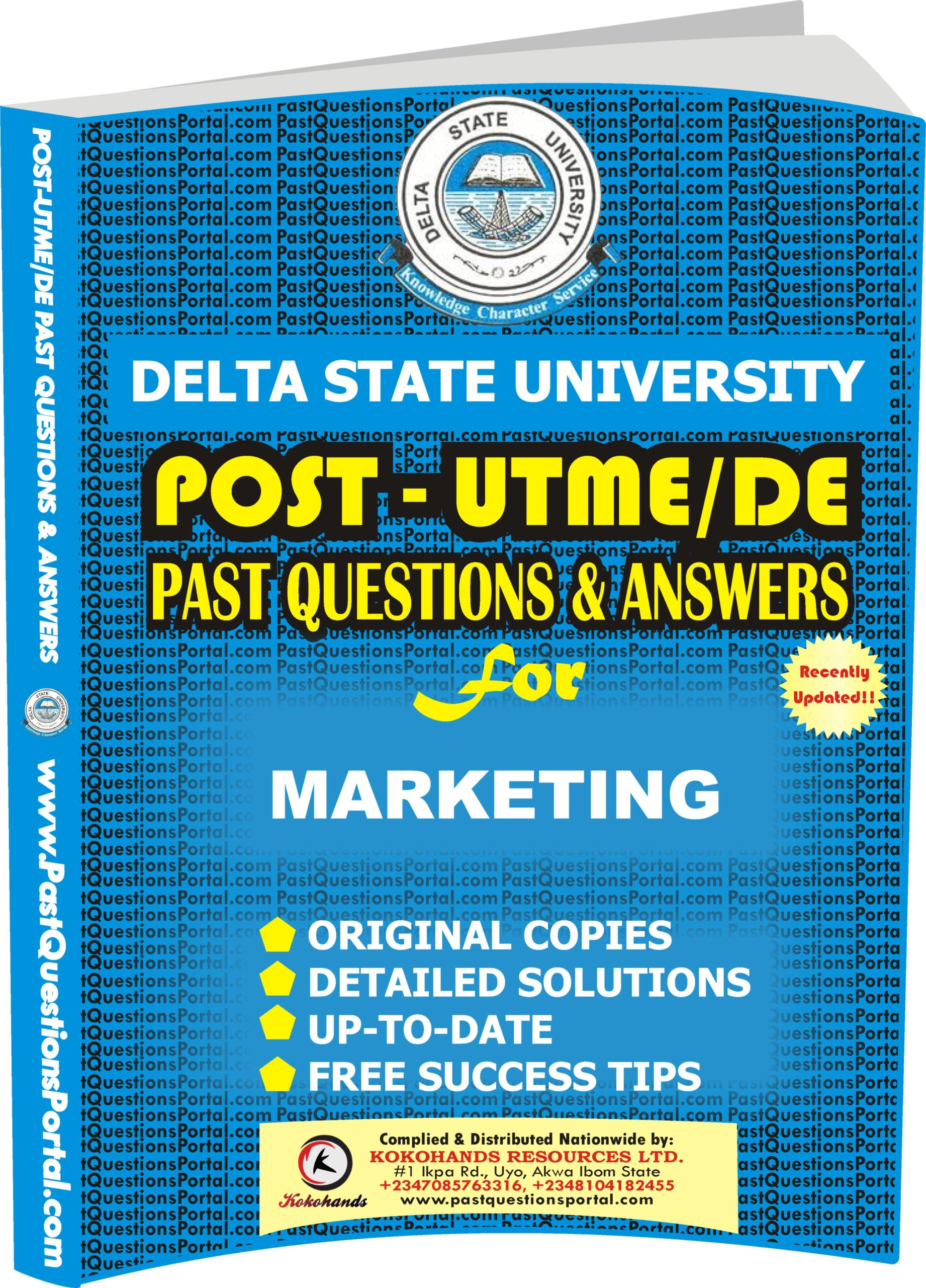 DELSU Post UTME Past Questions for MARKETING