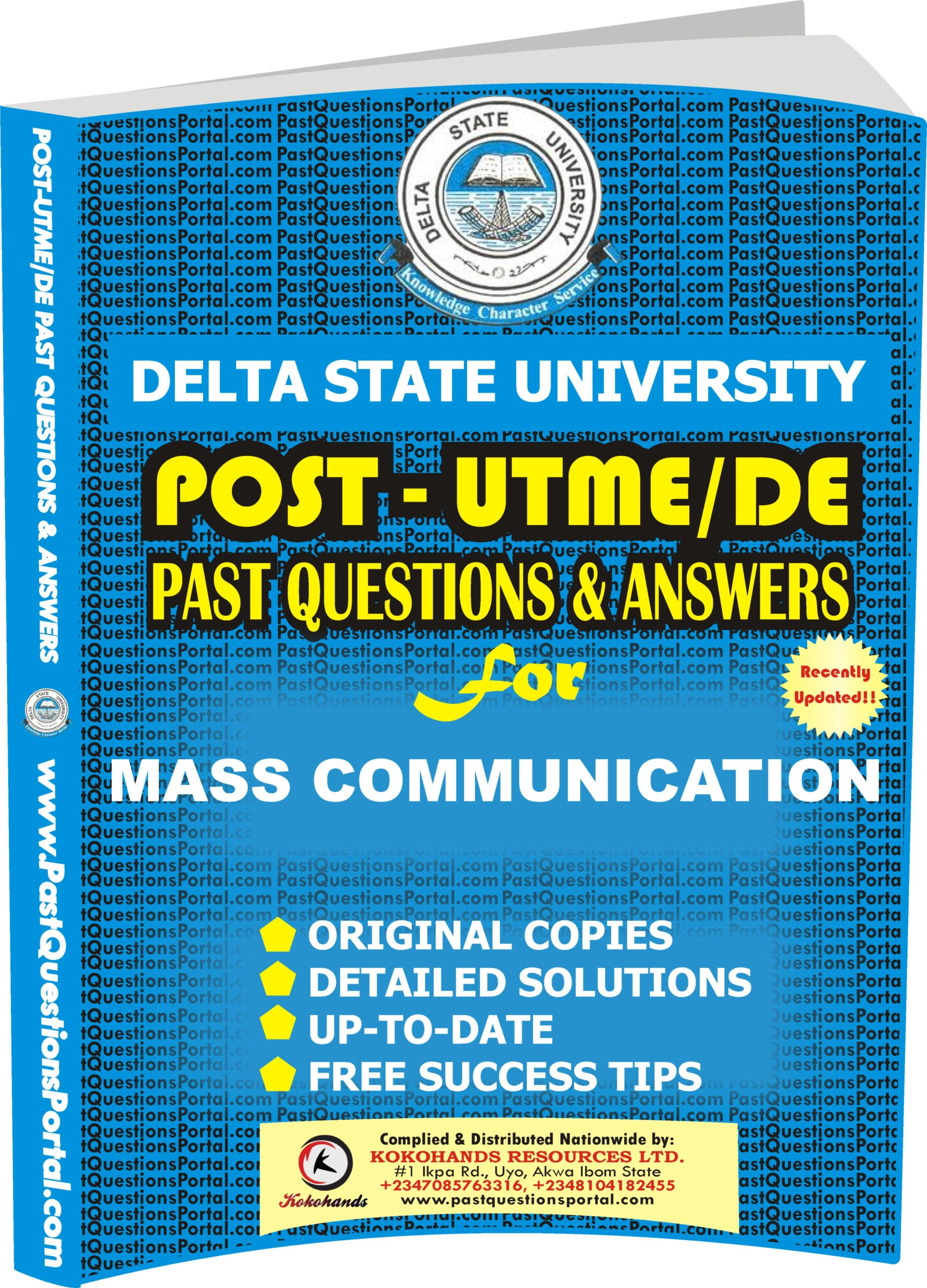DELSU Post UTME Past Questions for MASS COMMUNICATION