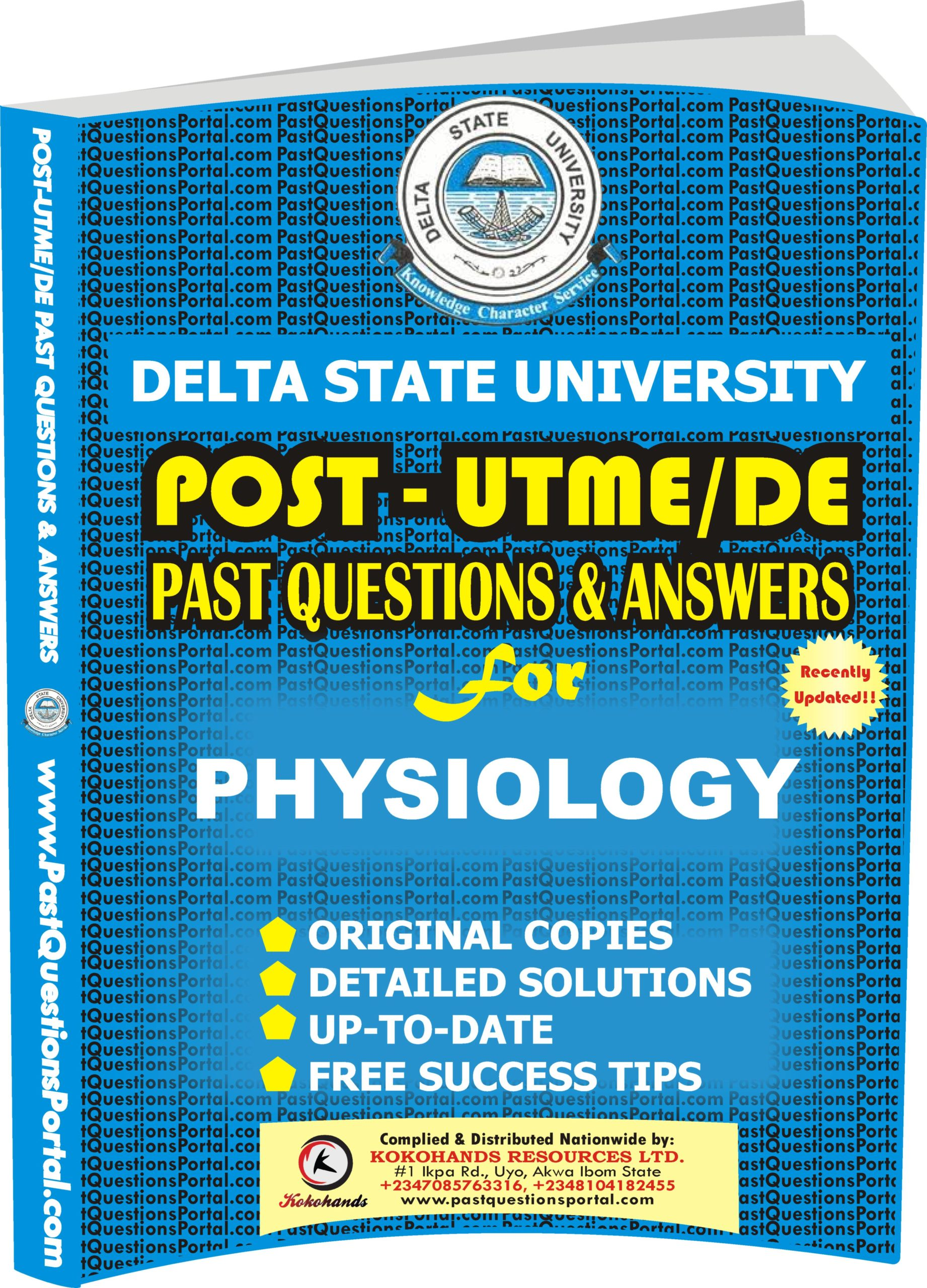 DELSU Post UTME Past Questions for PHYSIOLOGY