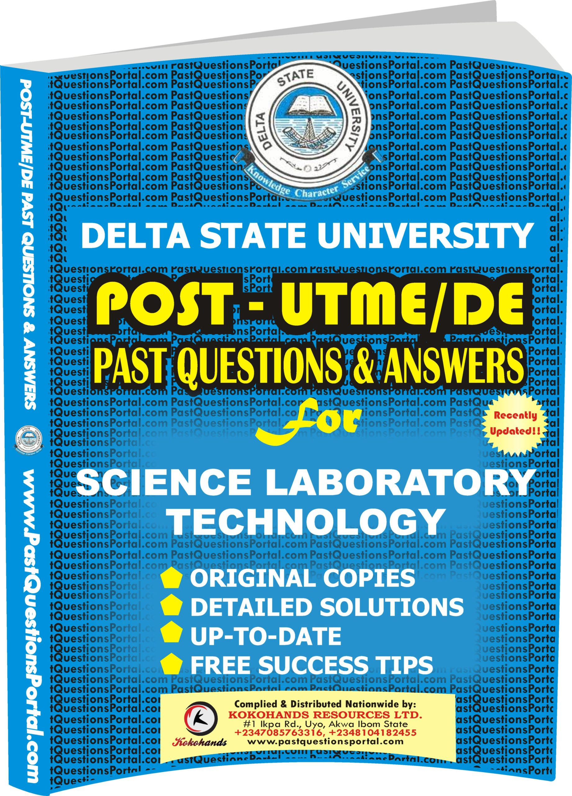 DELSU Post UTME Past Questions for Science Laboratory Technology