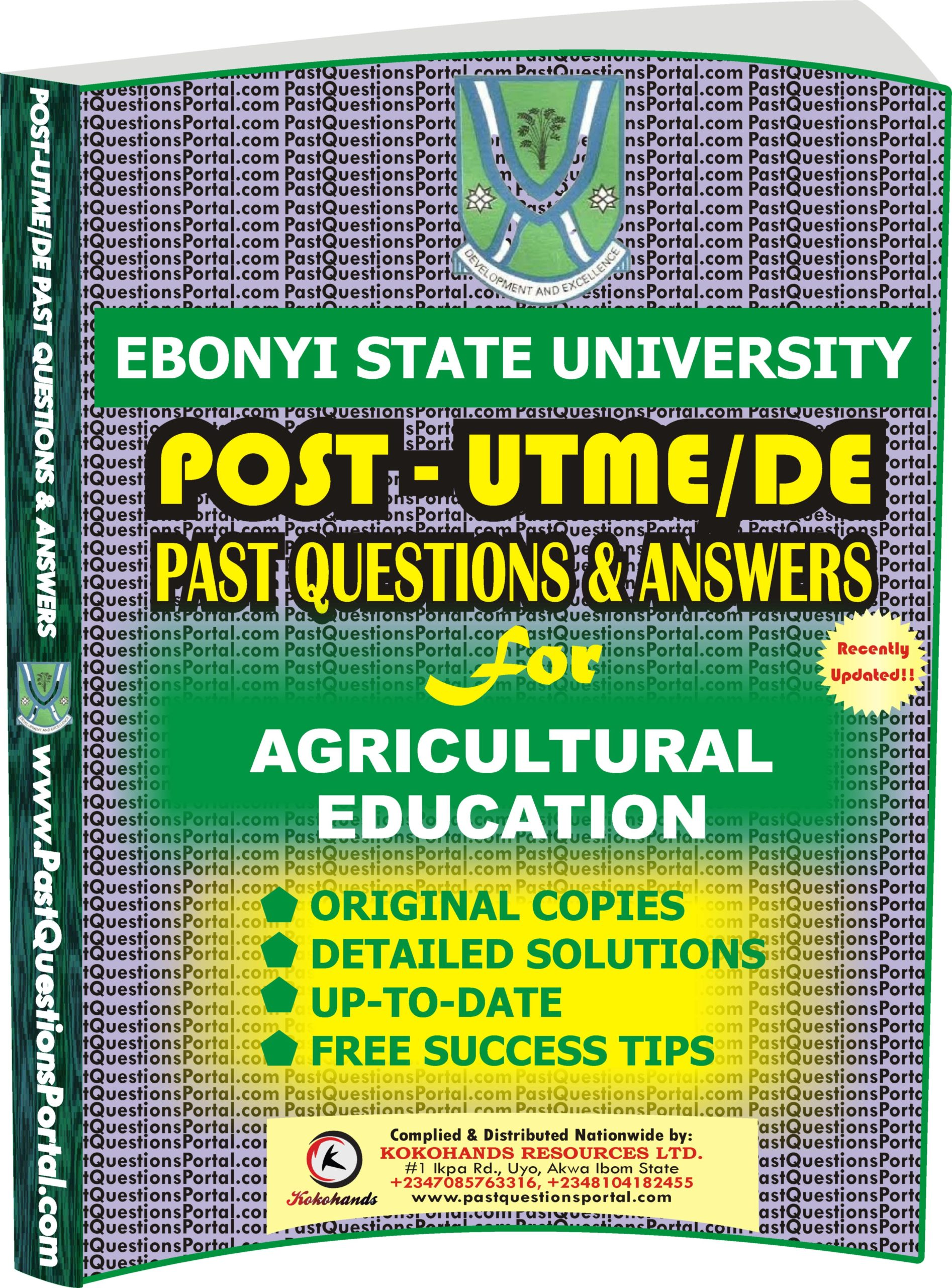 EBSU Post UTME Past Questions for AGRICULTURAL EDUCATION