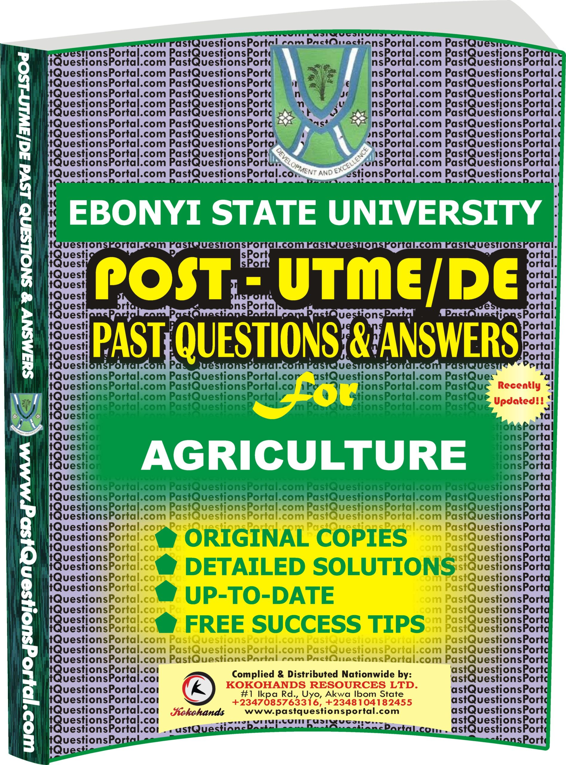EBSU Post UTME Past Questions for AGRICULTURE