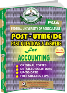 FUA Post UTME Past Questions for ACCOUNTING