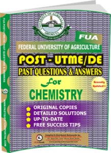 FUA Post UTME Past Questions for CHEMISTRY
