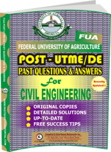 FUA Post UTME Past Questions for CIVIL ENGINEERING