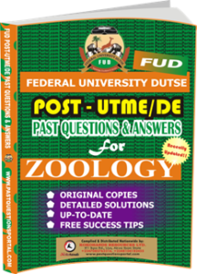 FUD Post UTME Past Questions for ZOOLOGY