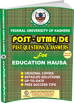 FUK Post UTME Past Question for EDUCATION HAUSA