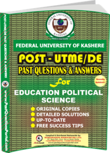 FUK Post UTME Past Question for EDUCATION POLITICAL SCIENCE