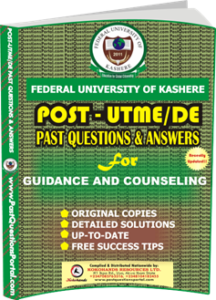 FUK Post UTME Past Question for GUIDANCE AND COUNSELING