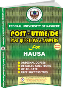FUK Post UTME Past Question for HAUSA