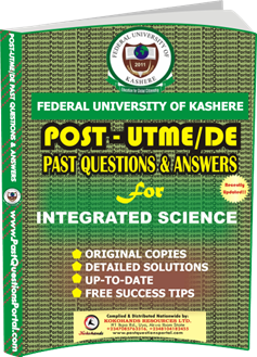 FUK Post UTME Past Question for INTEGRATED SCIENCE
