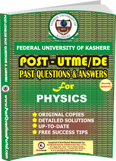 FUK Post UTME Past Question for PHYSICS
