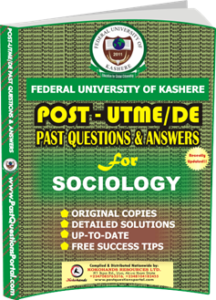 FUK Post UTME Past Question for SOCIOLOGY