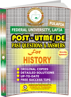 FULAFIA Post UTME Past Questions for HISTORY