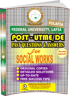 FULAFIA Post UTME Past Questions for SOCIAL_WORKS