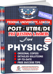 FULOKOJA Post UTME Past Questions for PHYSICS