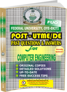 FUO Post UTME Past Questions for COMPUTER ENGINEERING
