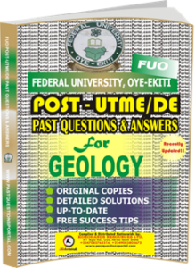 FUO Post UTME Past Questions for GEOLOGY