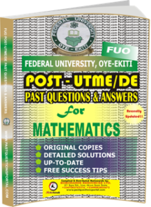 FUO Post UTME Past Questions for MATHEMATICS