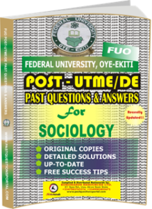 FUO Post UTME Past Questions for SOCIOLOGY