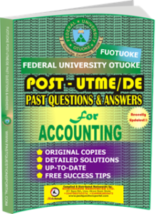 FUOTUOKE Post UTME Past Questions for ACCOUNTING