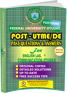 FUOTUOKE Post UTME Past Questions for ENGLISH LANGUAGE