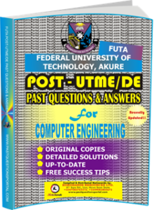 FUTA Post UTME Past Questions for COMPUTER_ENGINEERING