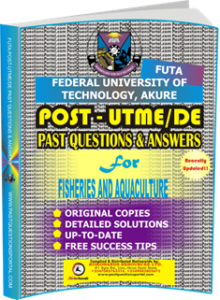 FUTA Post UTME Past Questions for FISHERIES AND AQUACULTURE