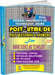FUTA Post UTME Past Questions for MARINE SCIENCE AND TECHNOLOGY