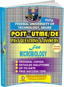 FUTA Post UTME Past Questions for MICROBIOLOGY