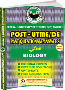 FUTO Post UTME Past Question for BIOLOGY