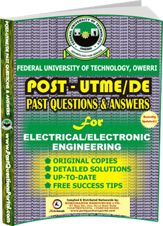 FUTO Post UTME Past Question for ElectricaL Electronic Engineering