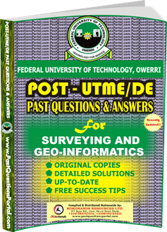 FUTO Post UTME Past Question for Survey and Geo-Informatics