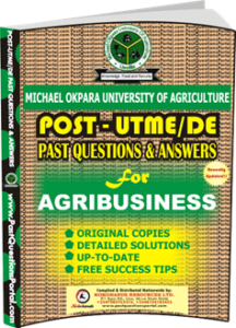 MOUAU Post UTME Past Question for AGRIBUSINESS