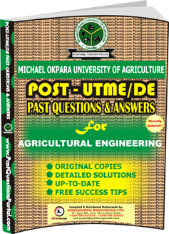 MOUAU Post UTME Past Question for AGRICULTURAL ENGINEERING