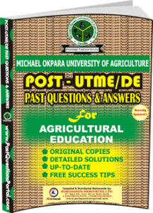 MOUAU Post UTME Past Question for Agricultural Education