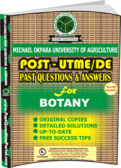 MOUAU Post UTME Past Question for BOTANY