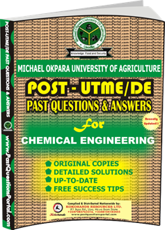 MOUAU Post UTME Past Question for CHEMICAL ENGINEERING