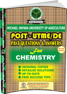 MOUAU Post UTME Past Question for CHEMISTRY